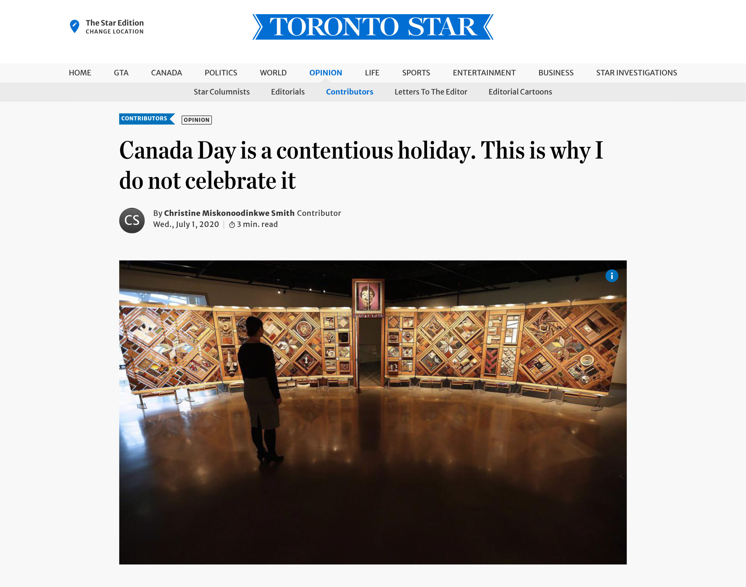 Canada Day is a contentious holiday. This is why I do not celebrate it   The Star